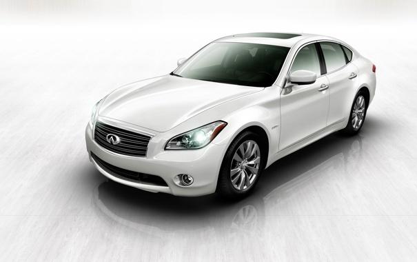 Фото обои белый, тачки, Infiniti, cars, инфинити, Hybrid, гибрид