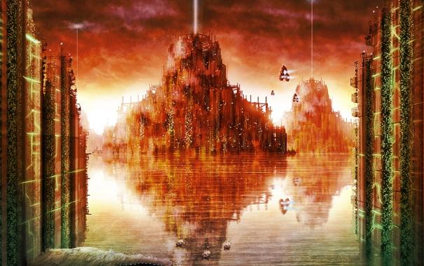 Фото обои вода, город, Waterworld