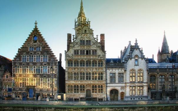 Фото обои окна город, Бельгия, дома, Gent, фото