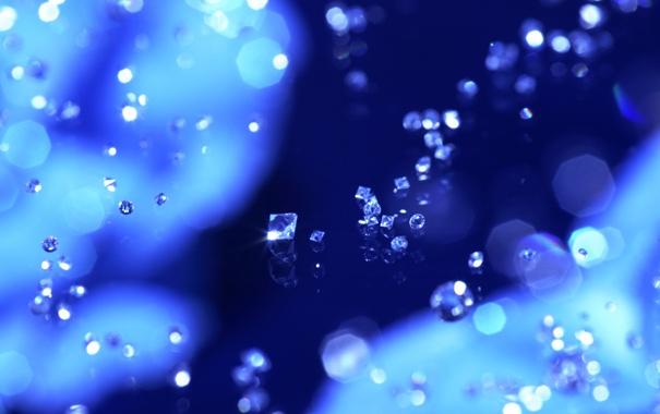 Фото обои синий, фон, бриллианты, россыпь