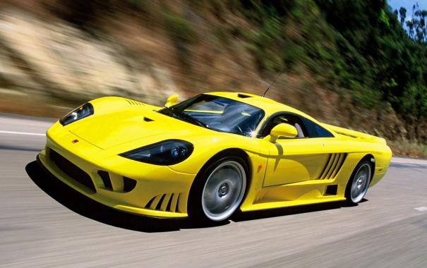 Фото обои Saleen, supercar, yellow, speed