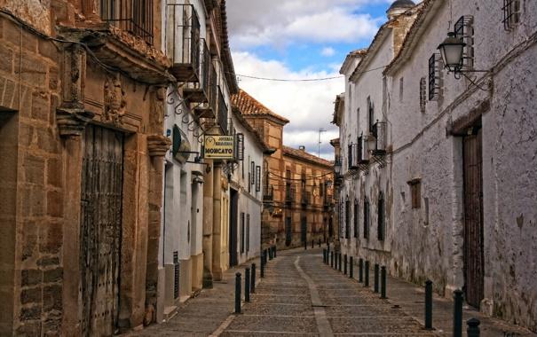 Фото обои город, улица, дома