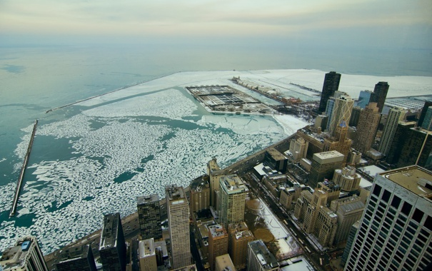 Фото обои city, высота, небоскребы, USA, америка, чикаго, Chicago