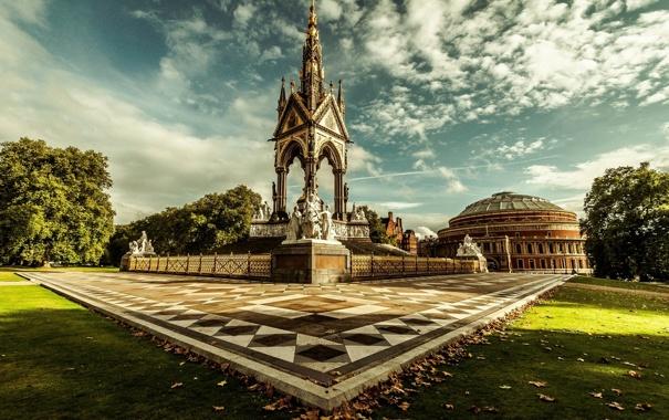 Фото обои Кенсингтонский сад, England, Великобритания, Лондон, Англия, London, Мемориал принца Альберта