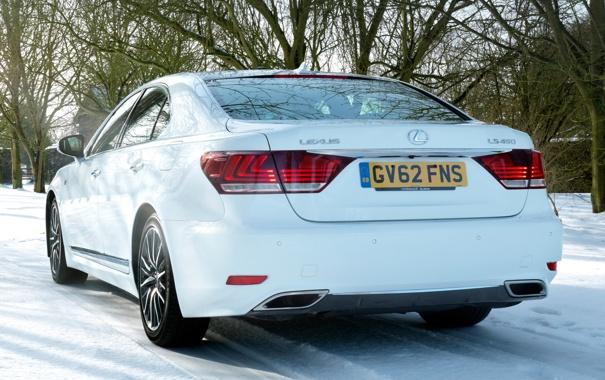 Фото обои car, Lexus, white, F-Sport, LS 460
