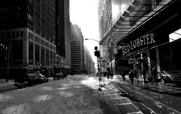 Фото обои city, город, USA, NYC, winter, New_York