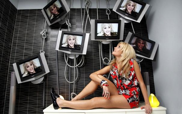 Фото обои девушка, креатив, обои, блондинка