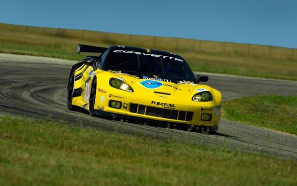 Фото обои дорога, машины, гонка, скорость, тачки, гонки, corvette