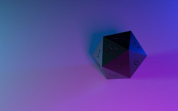 Фото обои многогранник, d20, игральный