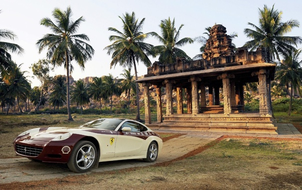 Фото обои ferrari, hi-res, india tour