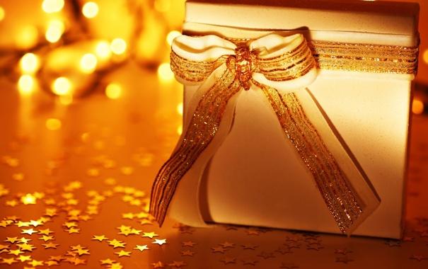 Фото обои праздник, Новый Год, Рождество, подарки, Бантик