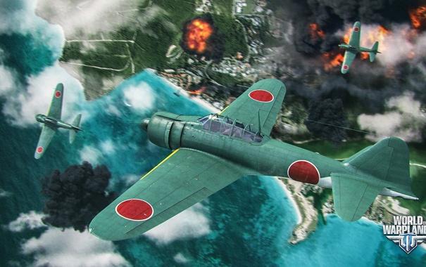 Фото обои самолет, Япония, aviation, авиа, MMO, Wargaming.net, World of Warplanes