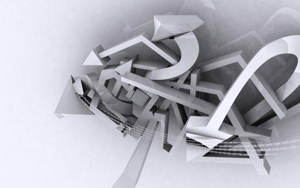 Фото обои белый, серый, графити