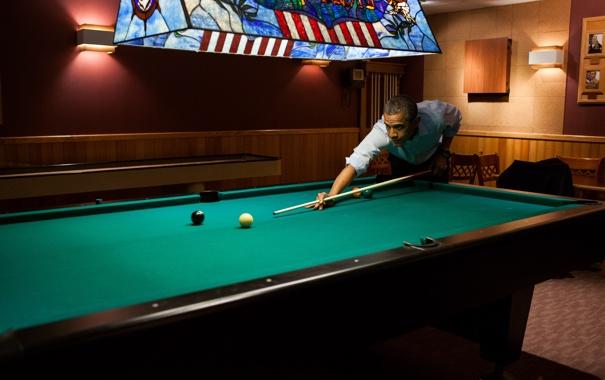Фото обои спорт, бильярд, game, pool, играет, Barack Obama, Барак Обама
