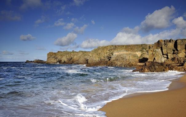 Фото обои море, пейзаж, берег