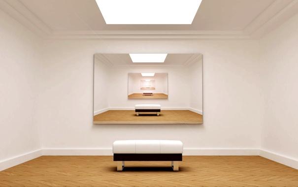 Фото обои комната, освещение, бесконечность