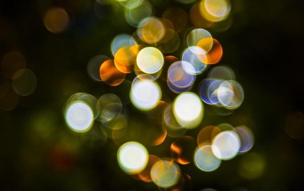 Фото обои свет, круги, фон, цвет