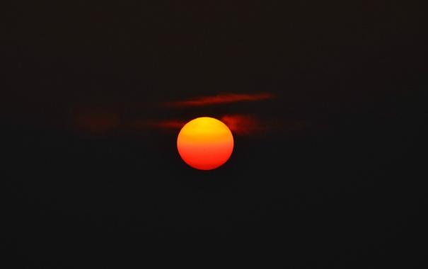 Фото обои небо, солнце, облака