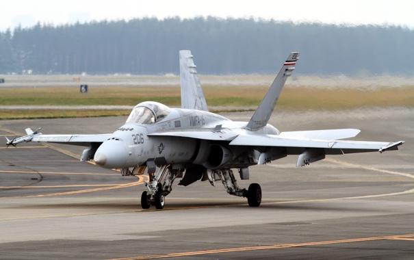 Фото обои самолёт, FA-18A, оружие