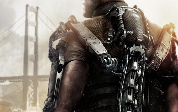 Фото обои Мост, Солдат, Экзоскелет, Военный, Activision, Экипировка, Sledgehammer Games
