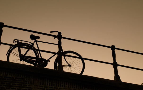 Фото обои велосипед, фон, темный, bike