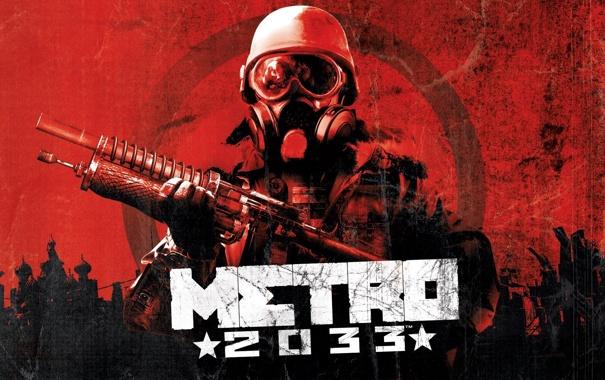 Фото обои солдат, противогаз, Метро 2033, Metro 2033
