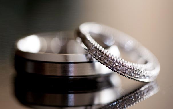 Фото обои обручальные, кольца, камни