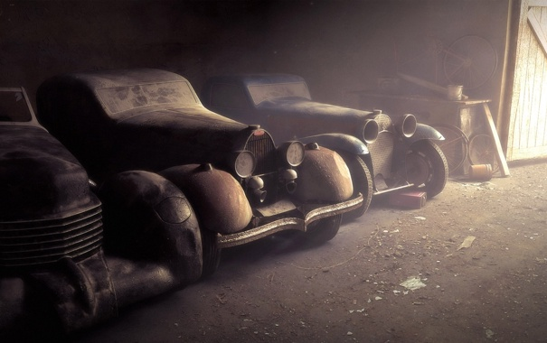 Фото обои авто, лучи, машины, фон, обои, старые, пыль