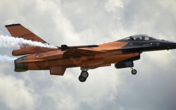 Фото обои истребитель, F-16, Fighting Falcon