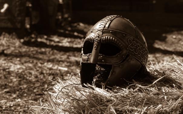 Фото обои металл, фон, доспехи, шлем