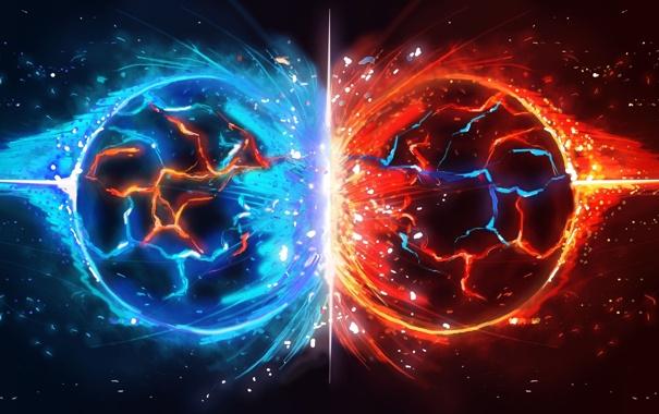 Фото обои шары, столкновение, child of eden