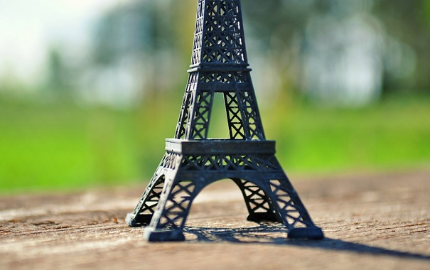 Фото обои фон, widescreen, обои, настроения, эйфелева башня, wallpaper, статуэтка