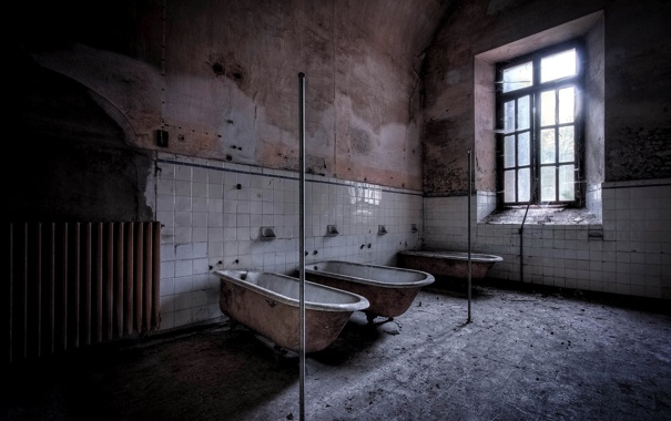 Фото обои комната, окно, ванны