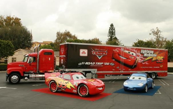 Фото обои авто, красный, тачки