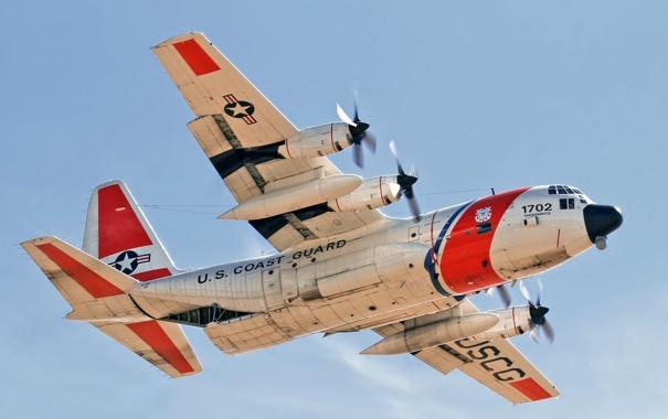 Фото обои авиация, самолёт, US Coast Guard HC-130