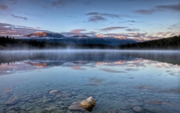 Фото обои лес, горы, природа, озеро, отражение