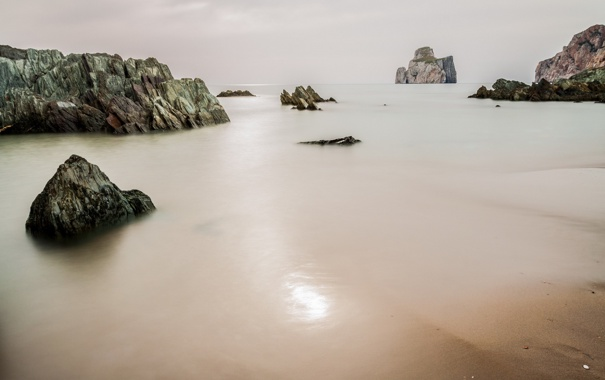 Фото обои море, пейзаж, камни