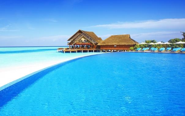 Фото обои остров, maldives, хотел