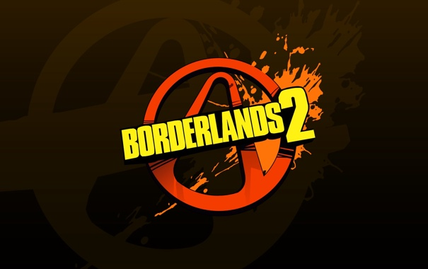 Фото обои red, logo, yellow, borderlands 2