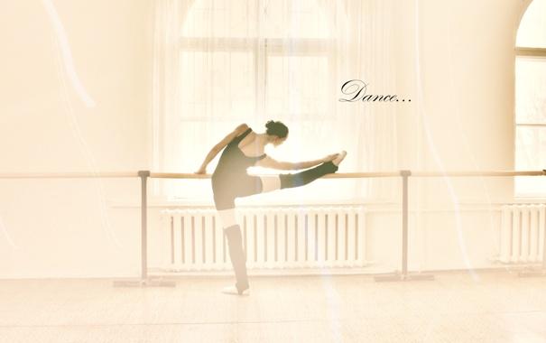 Фото обои упражнение, девушка, балерина