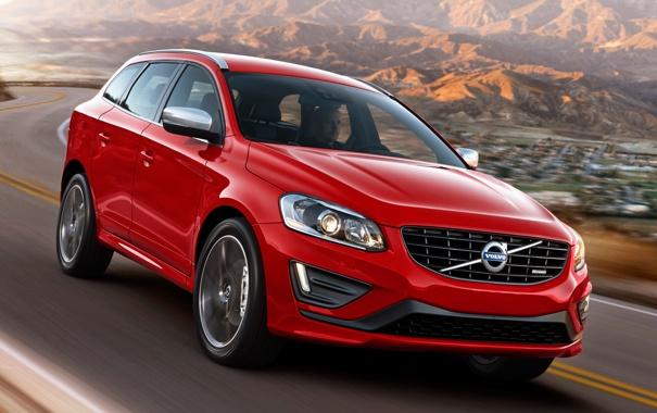 Фото обои красный, Volvo, автомобиль, вольво, R-design, XC60