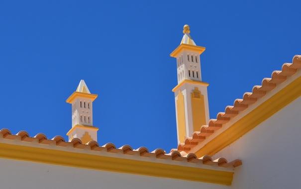 Фото обои крыша, дом, башни, архитектура