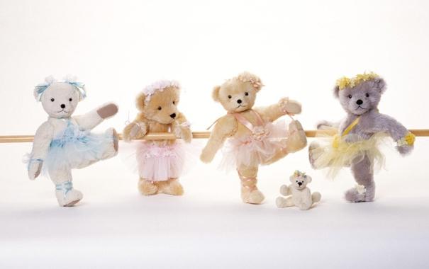 Фото обои игра, игрушки, мишки, репетиция