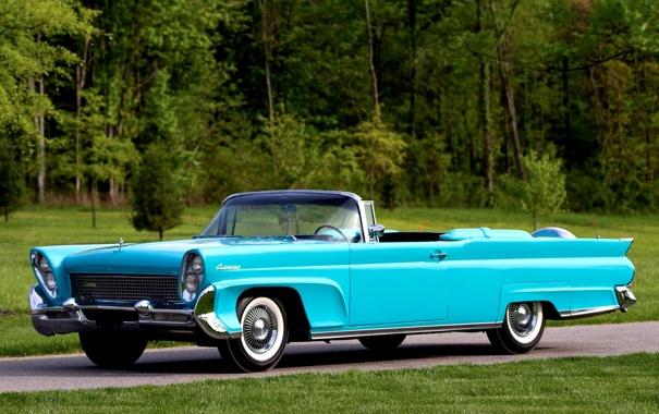 Фото обои Lincoln, Continental, Континенталь, передок, Convertible, 1958, Линкольн