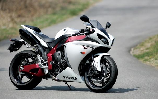 Фото обои белый, тень, мотоцикл, white, суперспорт, yamaha, bike