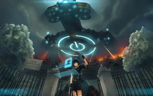 Фото обои небо, свет, интерфейс, игра, корабль, Мальчик, игрок