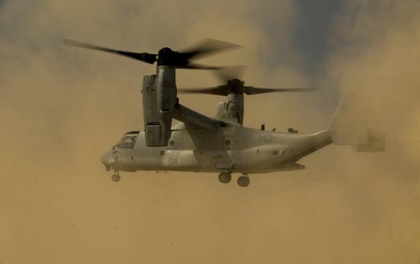 Фото обои полет, конвертоплан, Osprey, MV-22B
