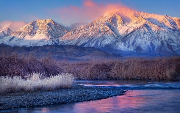 Фото обои камни, трава, фото, пейзажи, горы, вода