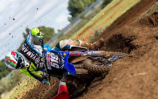 Фото обои гонка, спорт, мотоцикл