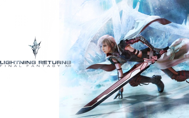 Фото обои меч, girl, Final Fantasy XIII, Lightning, Lightning Returns